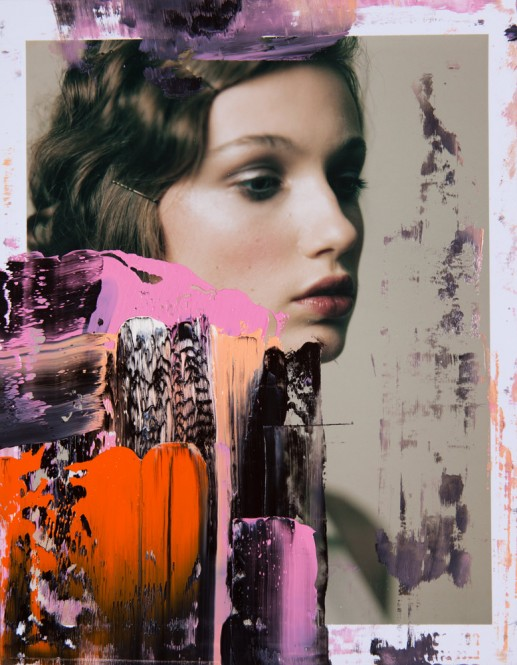 Overpainted photography - Lost Innocence